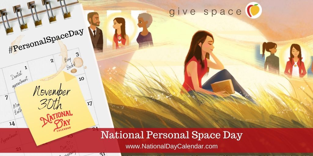 New Day Proclamation National Day Calendar Personal Space Person