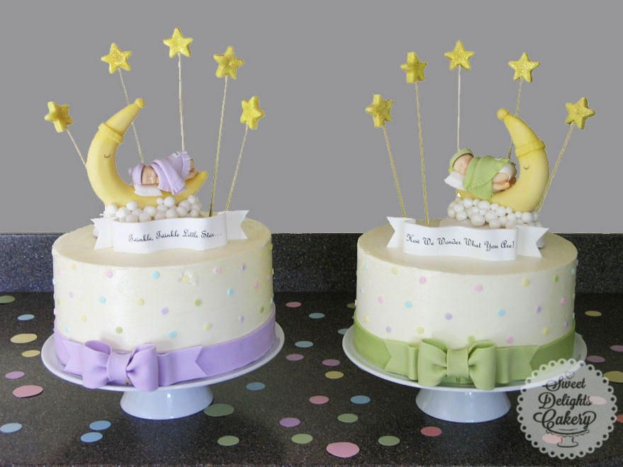 Gender Reveal Cake For Twins Cake By Sweet Delights Cakery