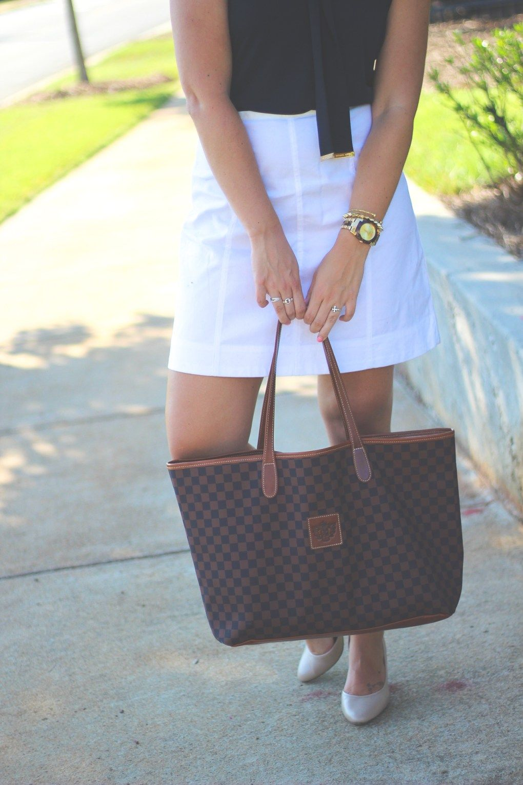... Work Wednesday (XXIII) - How 2 Wear It - summer work outfit - navy and white classic outfit