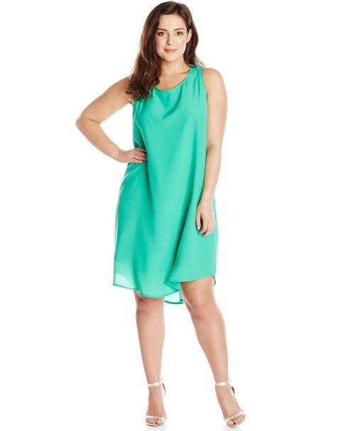 e3cf37afed 7 Cheap Sundresses for Plus Size Girls You Will Love  Beautiful casual  short cheap plus size mint sundress by BB Dakota (Shop style HERE)