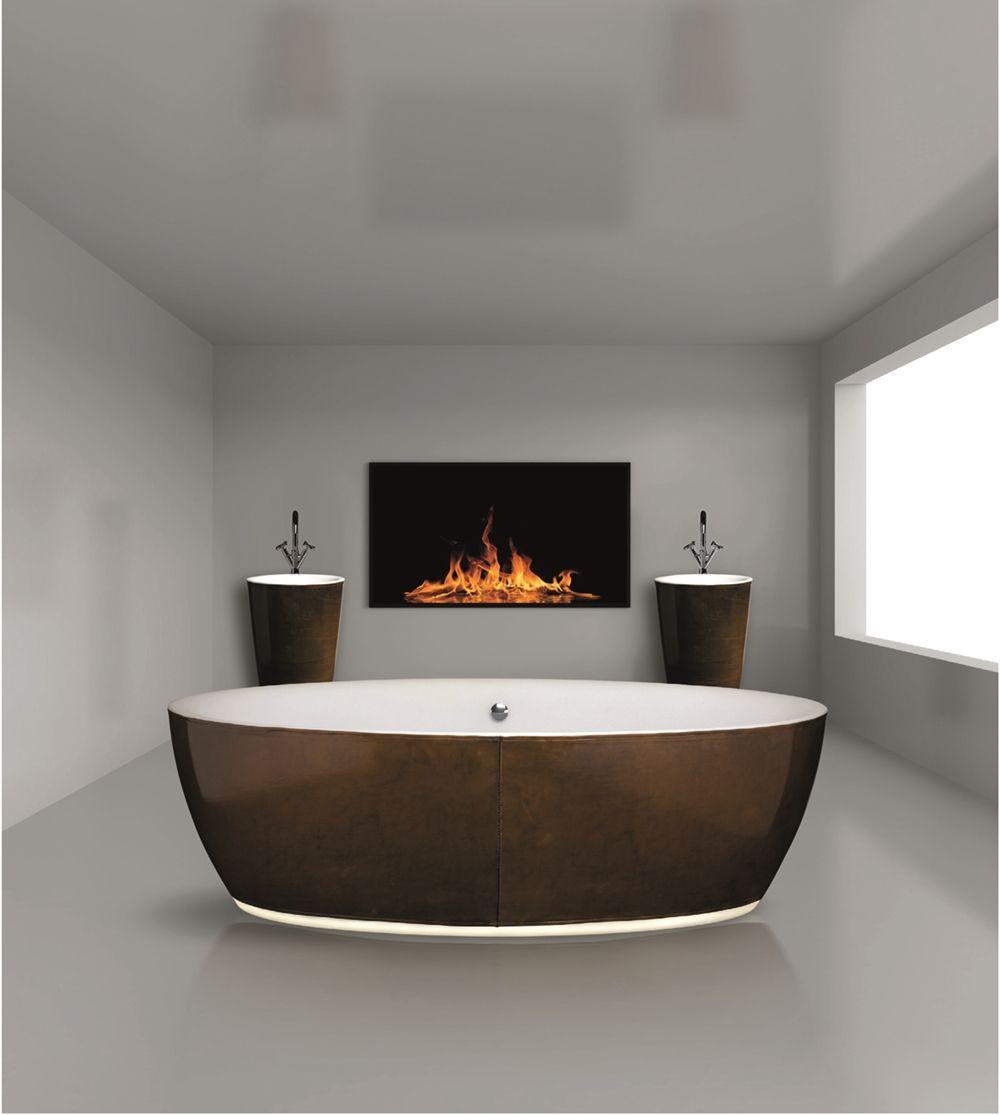 Leather clad bath from Aston Matthews www.astonmatthews.co ...