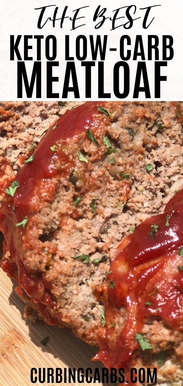 Pain de viande Easy Keto -  Recette de pain de viande céto à base de farine d'amande. La sauce est f