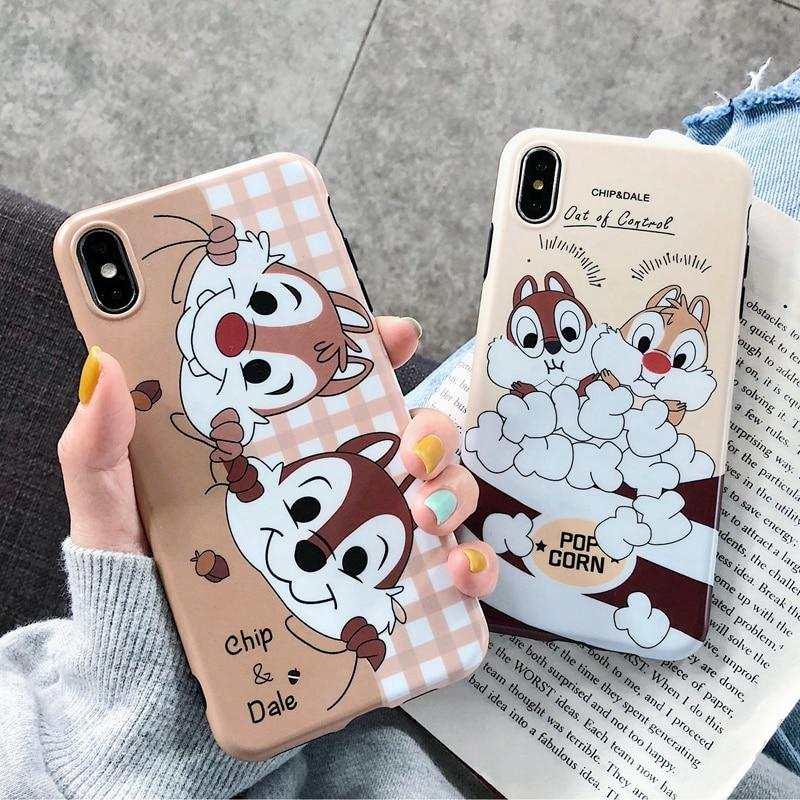 Chip N Dale Mobile Phone Cover Cute Cartoon Iphone Cases Mobile Phone Case Sewing Disney Phone Cases Iphone Cases