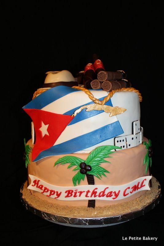 Fantastic Cuban Cakes Cuba Cake Le Petite Bakery Birthday Cake Personalised Birthday Cards Beptaeletsinfo