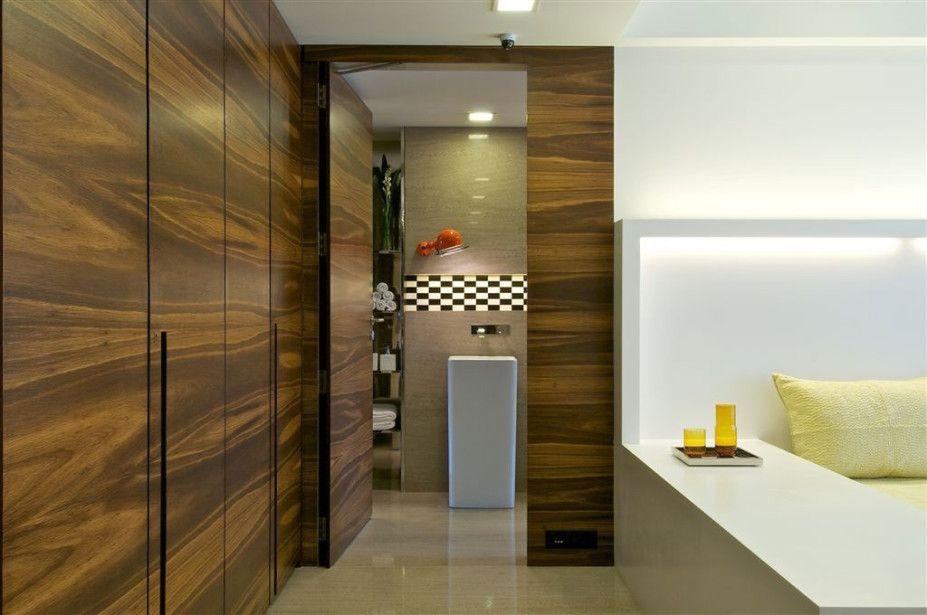 Hotel And Resort Design, Wooden Wardrobe As White Laminate Floor As White  Cushions Mumbai 08