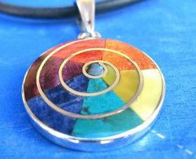 Inca symbol of mother earth pachamama bracelet spiritual jewellery 7 chakra bracelet peruvian silver jewelry yoga jewelry