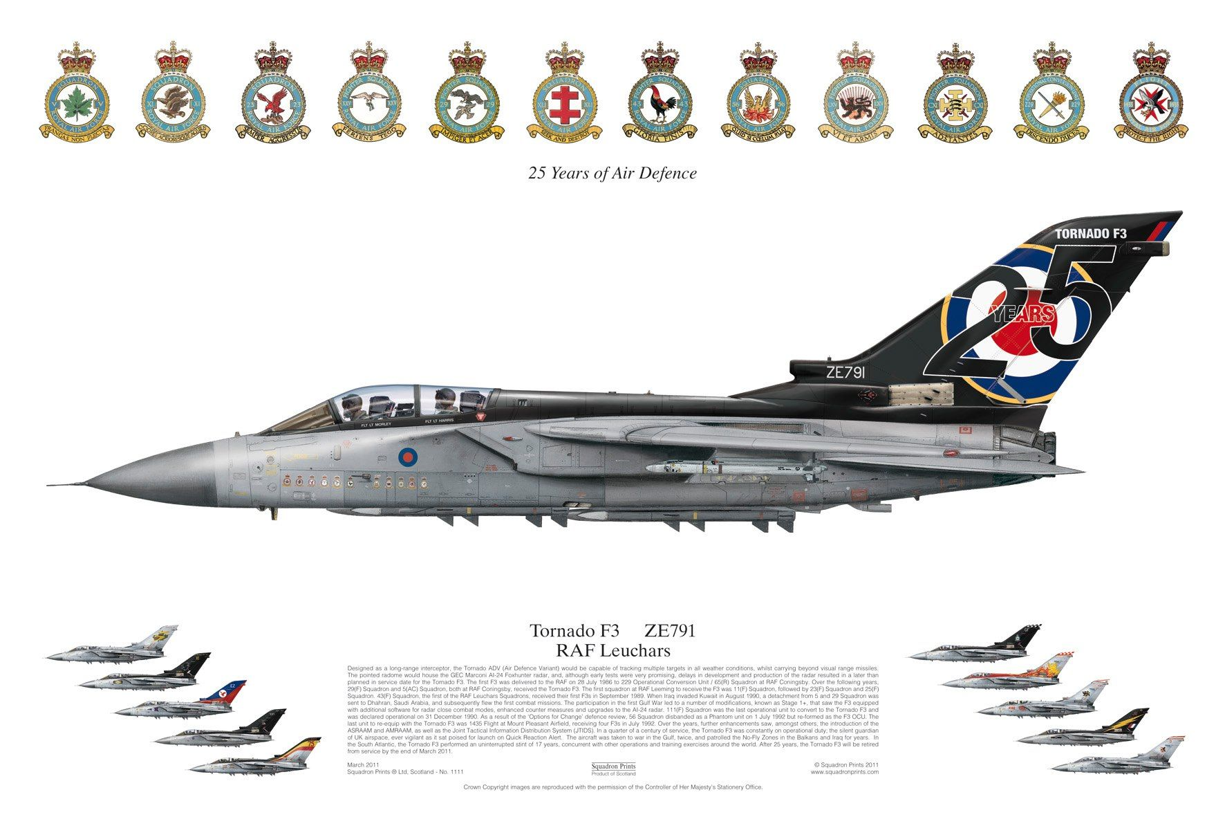 tornado f3 raf leuchars 25 years of air defence squadrons plane liveries flugzeug luft. Black Bedroom Furniture Sets. Home Design Ideas