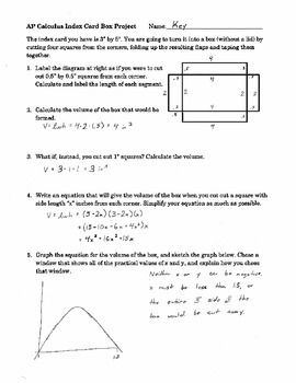 Ap Calculus Optimization Discovery Project With M Ms Ap Calculus