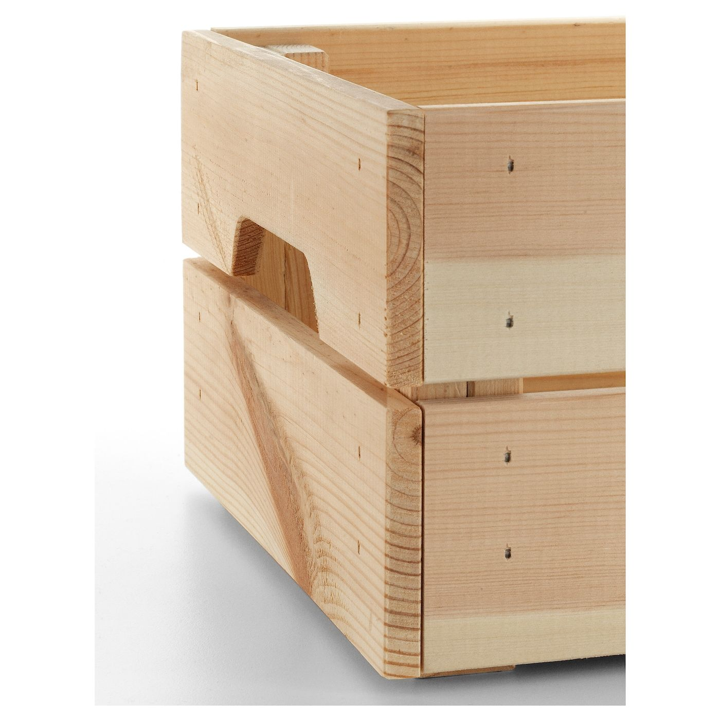 Knagglig Box Pine 23x31x15 Cm Ikea Wooden Boxes Wooden Crates