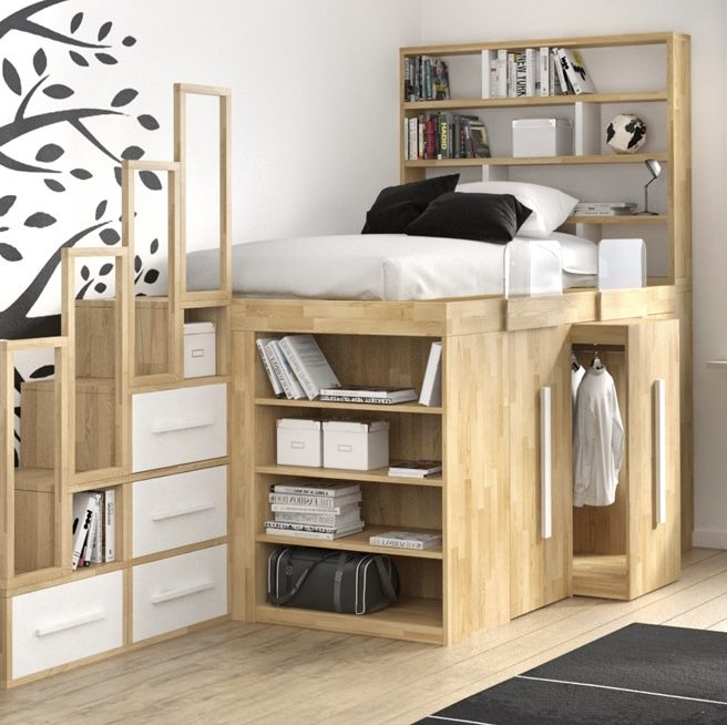 SpazioBed Young - Space-Saving Kids Room Ideas | Cinius
