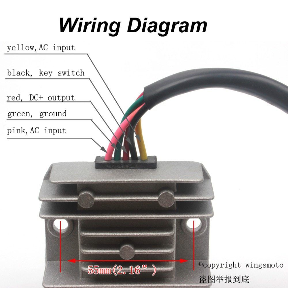 5 Wires 12v Voltage Regulator Rectifier Motorcycle Dirt Bike Atv Gy6 50 150cc Scooter Moped Jcl Motorcycle Wiring Voltage Regulator Electrical Circuit Diagram