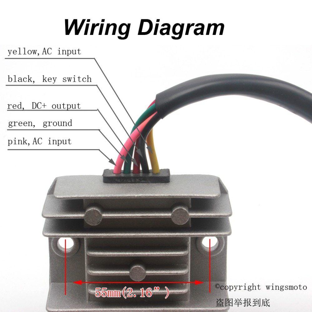 medium resolution of 5 wire voltage regulator wiring diagram wiring library5 wires 12v voltage regulator rectifier motorcycle dirt bike