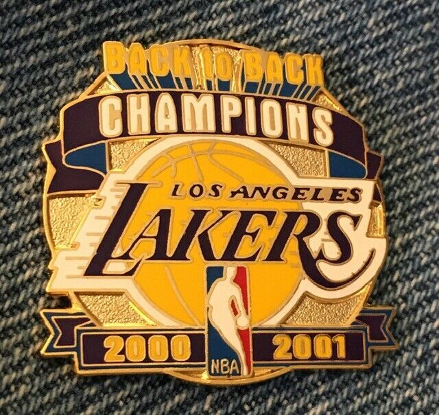 Los Angeles Lakers Pin World Champions Back To Back 2000 2001 Nba In 2020 Los Angeles Lakers Lakers Nba