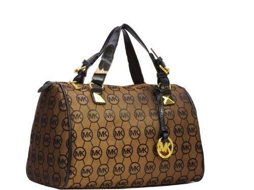 Special Price 61 00 Michael Kors Bedford Monogram Large Tote Brown