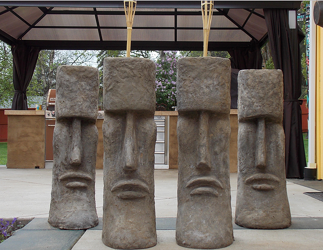 Exceptional Tiki Planters Made From Cement   Seattle, Snohomish, PNW Yard Art |  Snohomish Artist Carrie Milburn