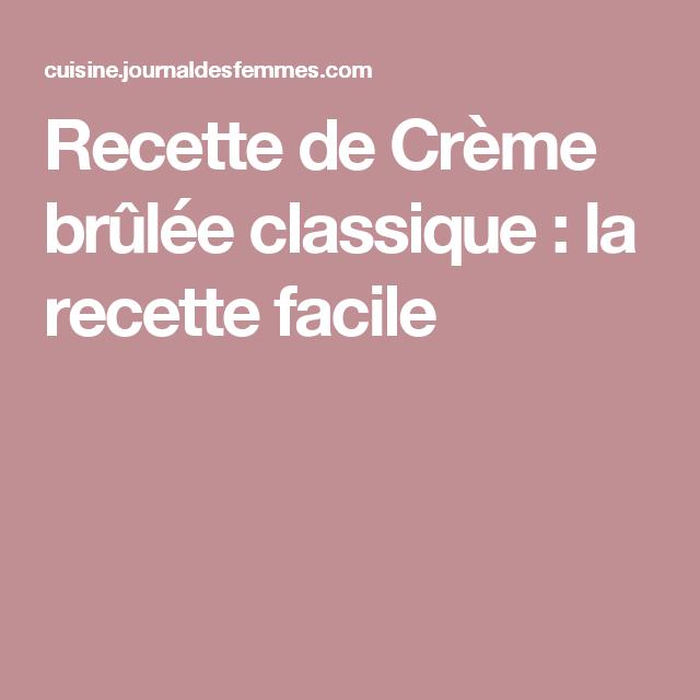 Recette de Crème brûlée classique : la recette facile