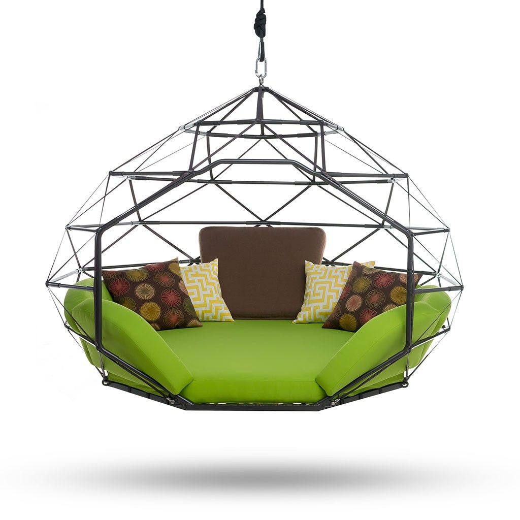 The hanging lounger by kodama zome outdoor swing bed lounge in