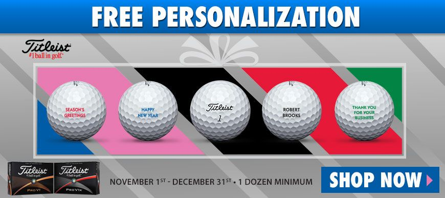 Golf Ball · Promotion · Campaign · Free personalization for the holidays  has begun! Choose from Titleist Pro V1 9400982cde5