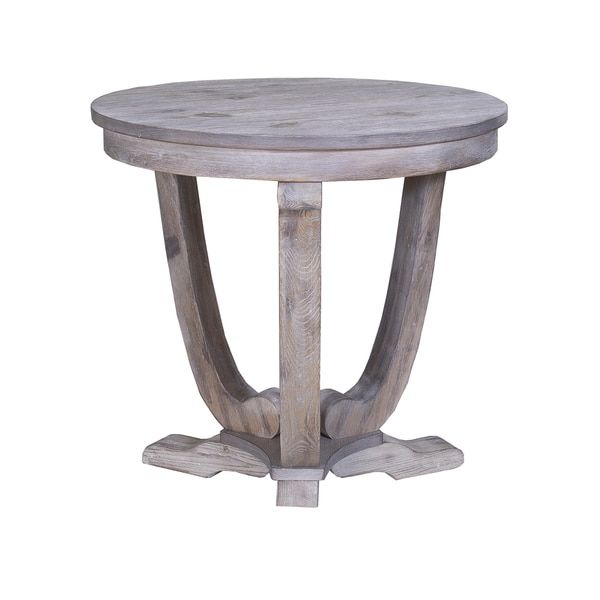Greystone Mill Stone Washed Round End Table