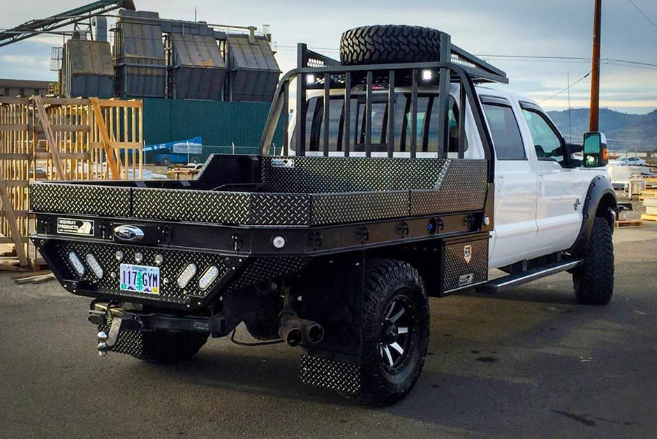 Pickup Truck Bed Liners >> Gallery | Custom Pickup Truck Flatbeds | Highway Products ...