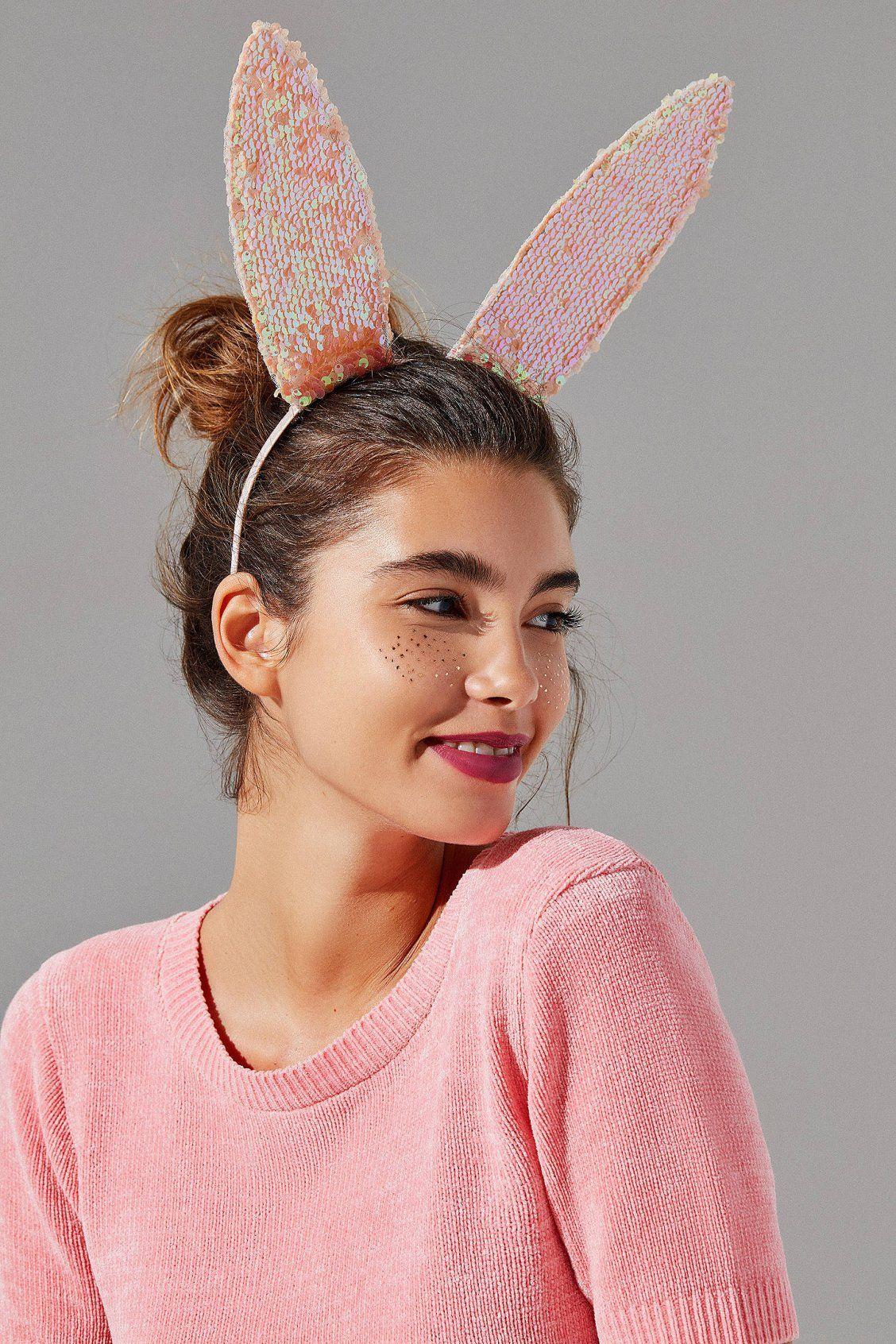 Sequin Bunny Ear Headband  2af7989940d