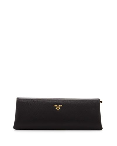 676634c3c484 Prada Saffiano East-West Frame Clutch Bag, Black (Nero) | Purses ...