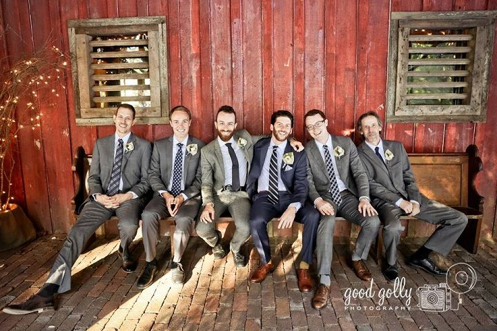 Gray groomsmen for Navy Blue and Gray Rustic Literary-themed Wedding with DIY details | fabmood.com #navyblue #navybluewedding #groomsmen #graywedding #literarywedding