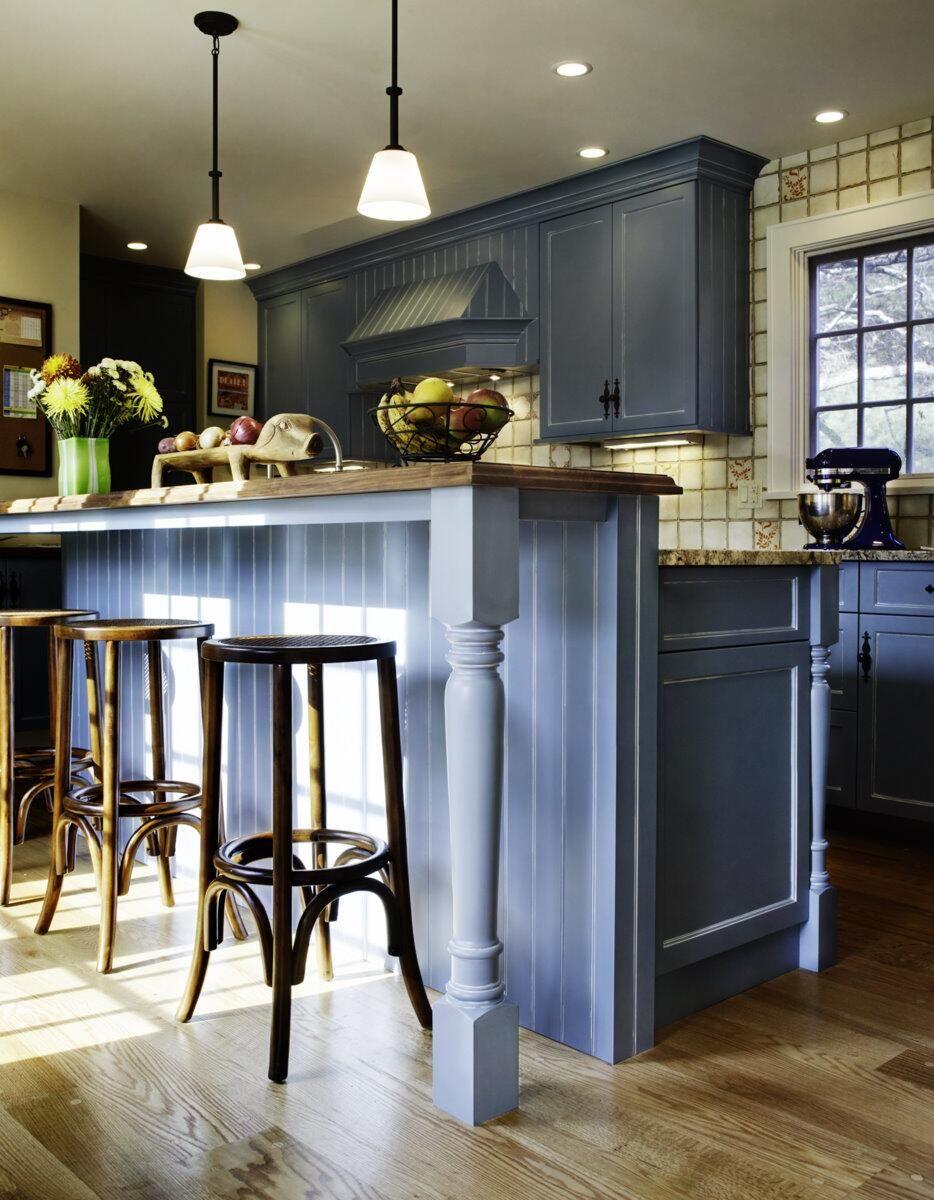 Twitter / ChuckWheelock Blue Farmhouse kitchen