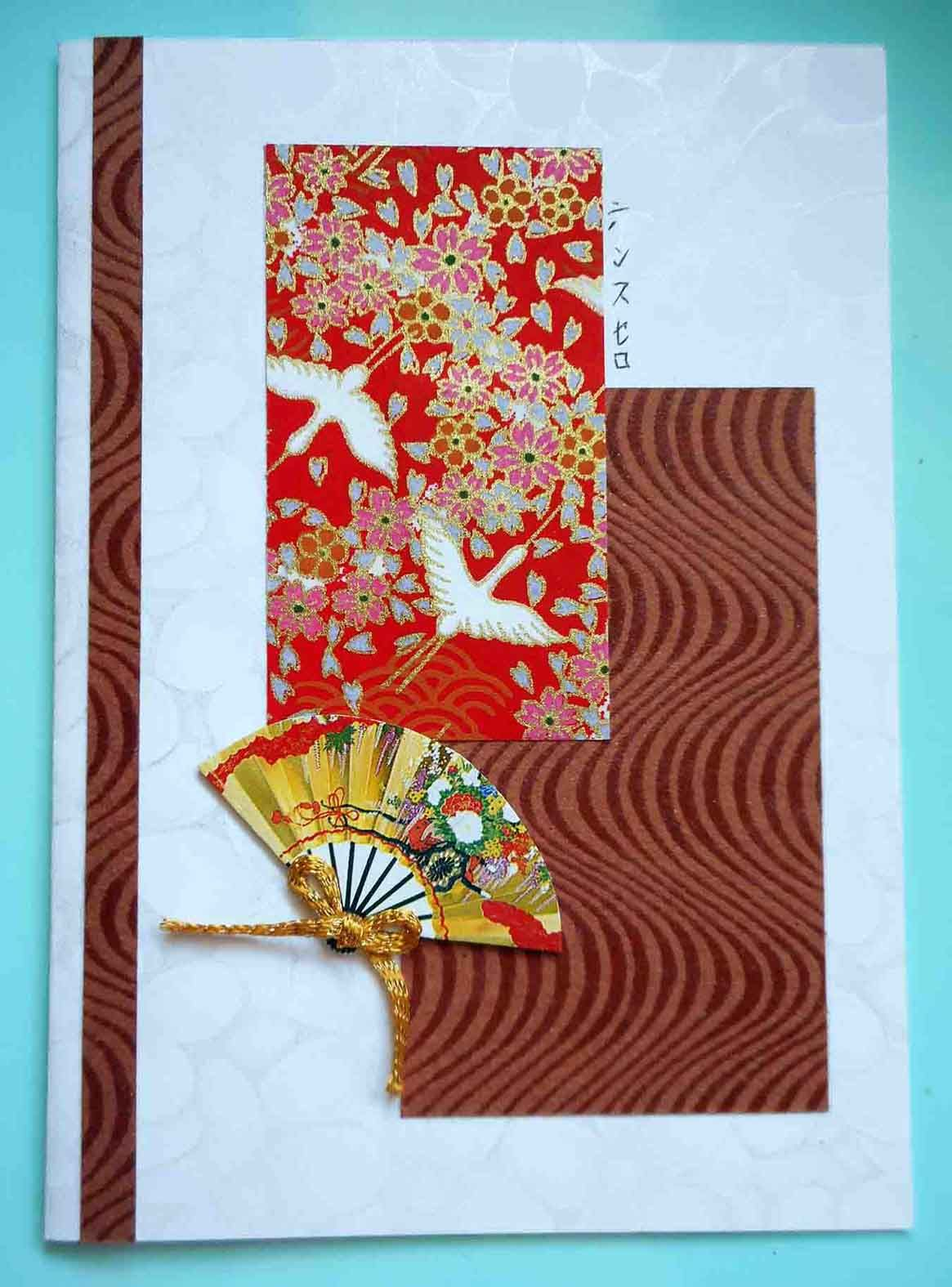 All Purpose Handmade Card 60 Made With Japanese Yuzen Washi Paper Cards Handmade Asian Cards Creative Cards