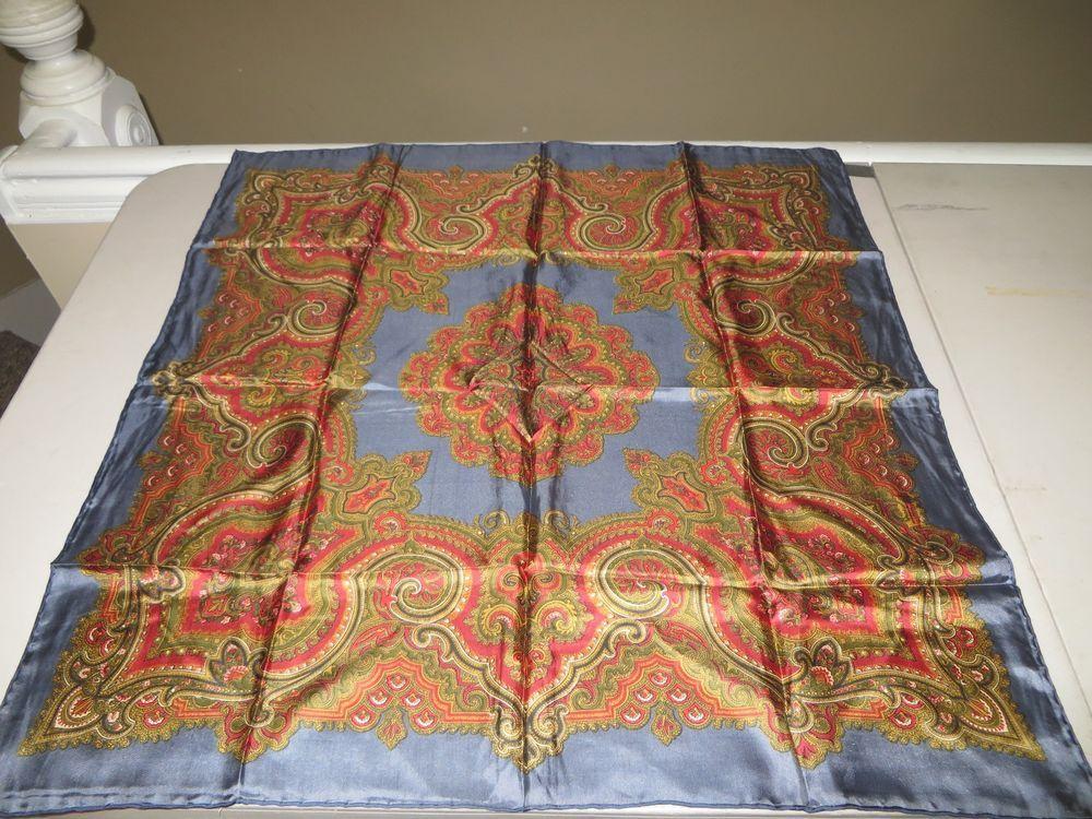 Accornero Mobili ~ Vintage gucci scarf flora by v accornero with navy blue border