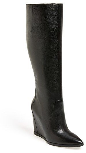 Kenneth Cole New York 'Statton' Leather Wedge Boot (Women)