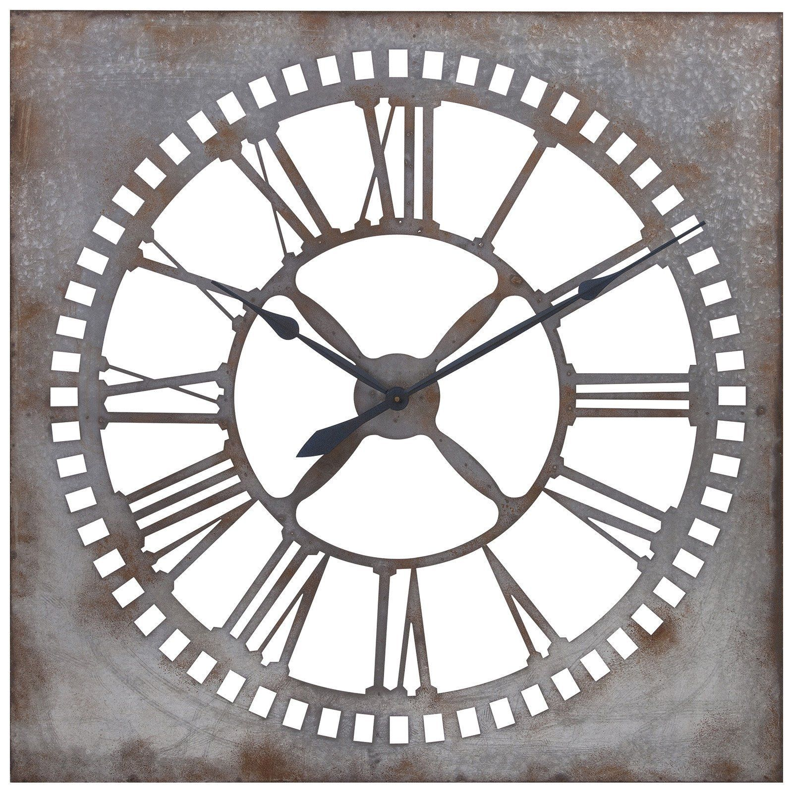 Murphy galvanized clock transitional wall decor and products