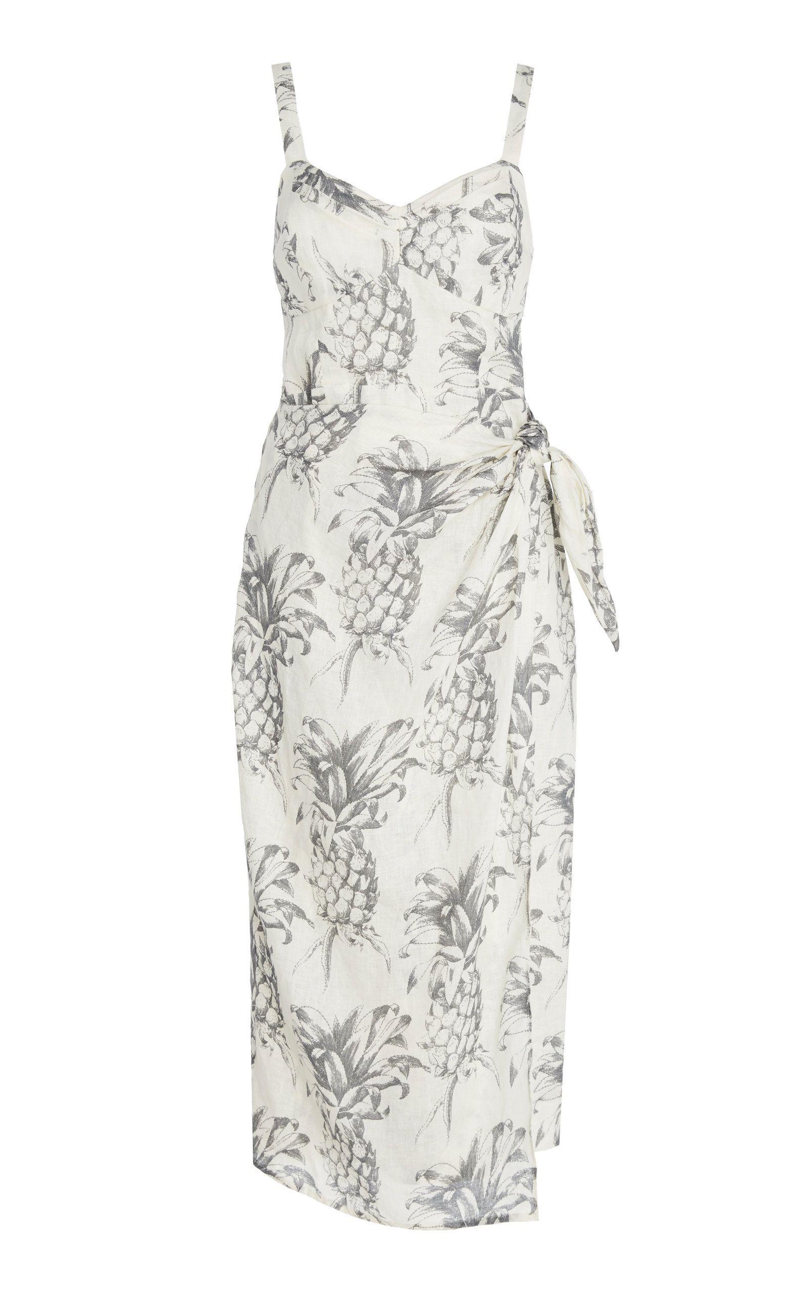 b84778d88f Wayfarer Printed Linen Wrap Dress by ZIMMERMANN Now Available on Moda  Operandi Wrap Dress