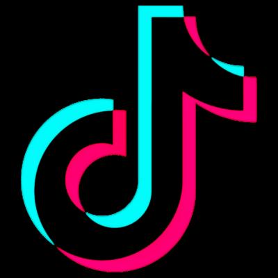 Tiktok Tik Tok Tik Tok Glitch Logo Image Letters Logos