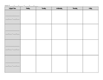 Blank Lesson Plan Template  Lesson Plan Templates Blank Lesson