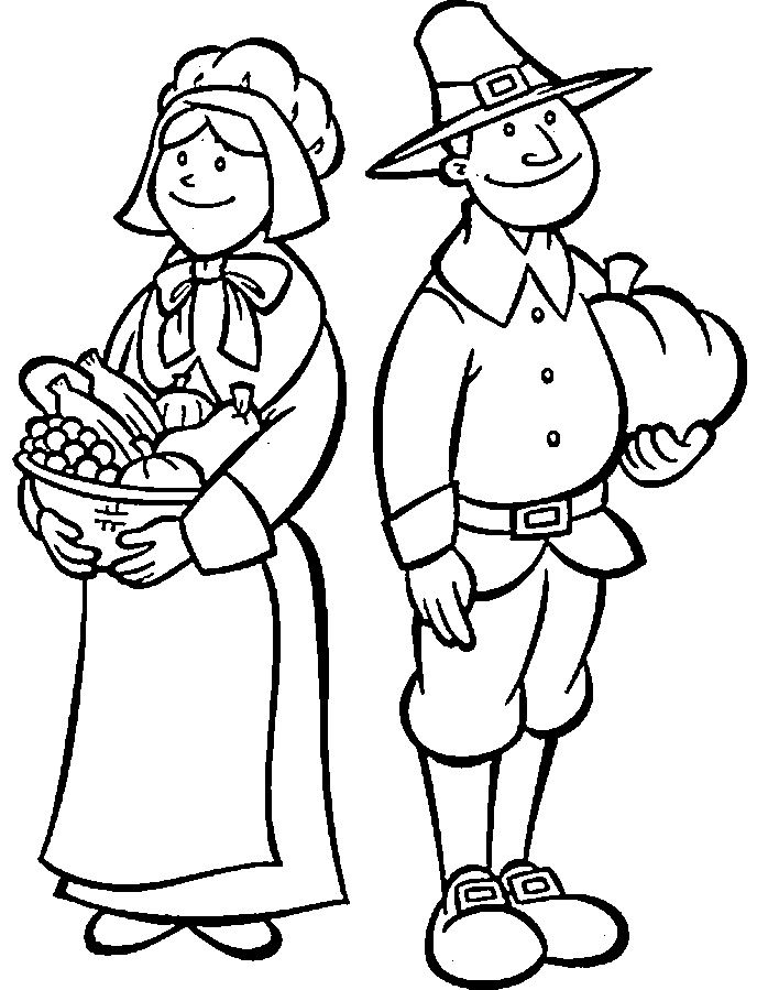 Free Printable Pilgrim Coloring Pages For Kids Thanksgiving