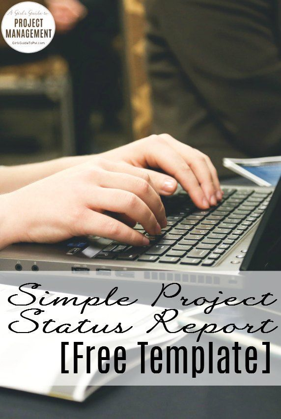Simple Status Report Free Template Professional Pinterest