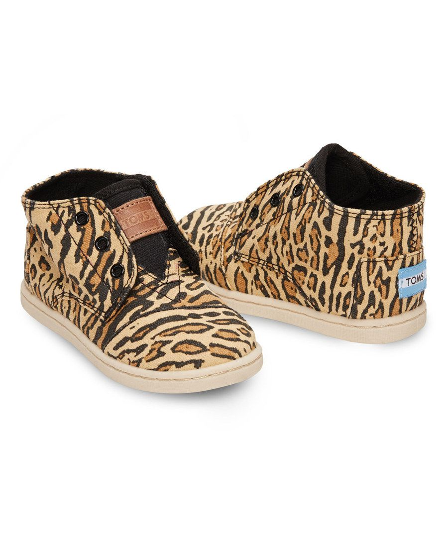 fe6e1cabdcf Look at this TOMS Brown Ocelot Canvas Classic Mid Paseos - Tiny on  zulily  today!