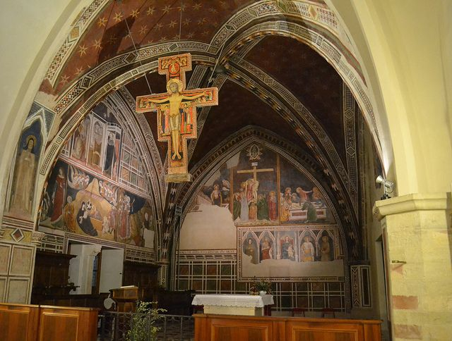 Image result for Chapel of the Crucifix in the Basilica of St. Clare in Assisi
