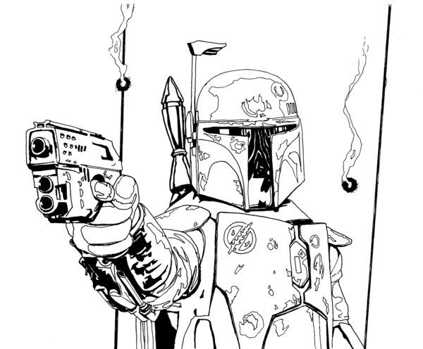 boba fett lines by r6artist | lineart: star wars | pinterest ... - Boba Fett Coloring Pages Printable