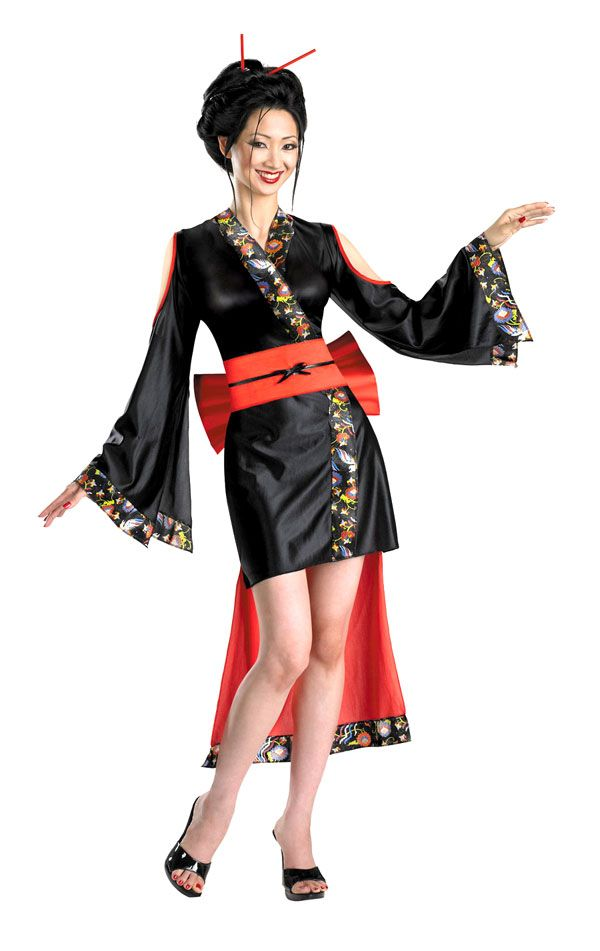 Adult Lotus Flower Geisha Costume Asian Japanese Geisha Costumes