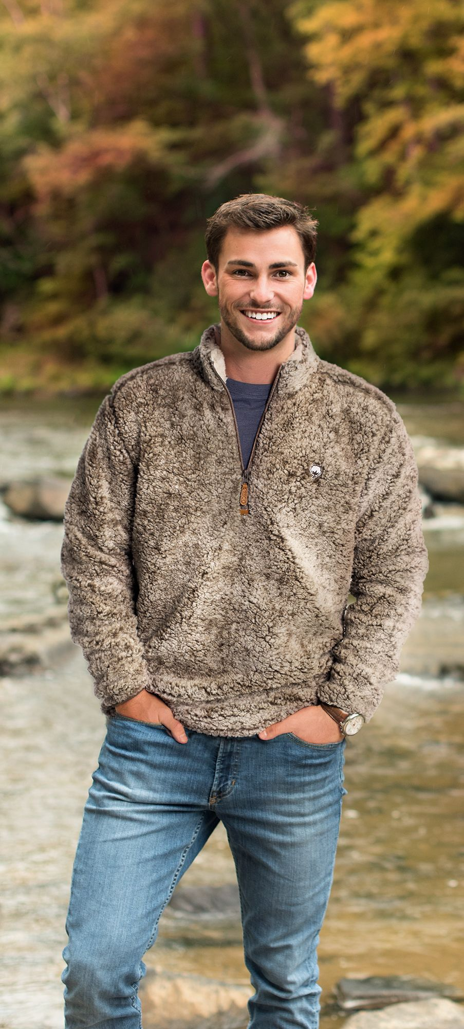 Heather Sherpa Pullover w/ Pockets | Mens fall, Guy outfits and ...
