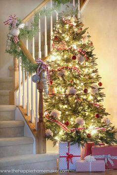 Red Buffalo Check Plaid Christmas Tree and Organization