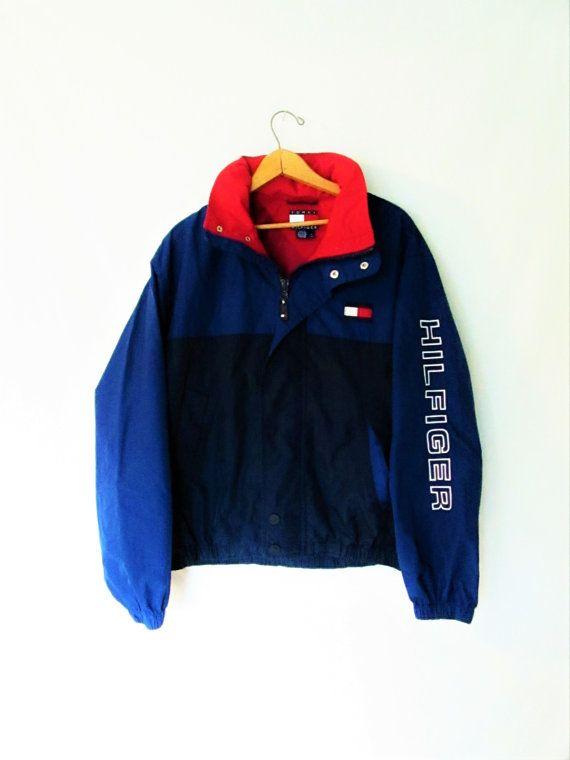 Vintage 1990s Tommy Hilfiger Windbreaker Jacket Women S Sweaters