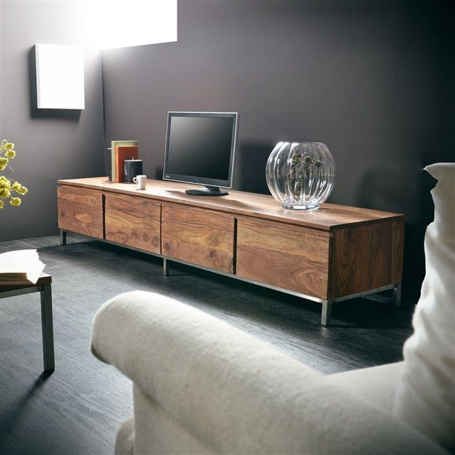 meuble tv en palissandre 205 nova tikamoon tikamoon. Black Bedroom Furniture Sets. Home Design Ideas