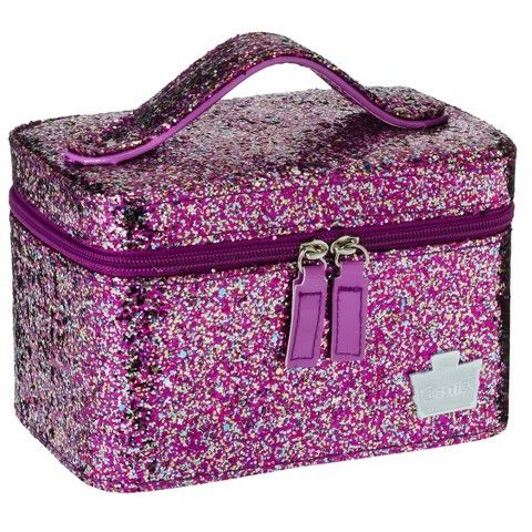Cosmetic Case 58391 41 Glitter Vanity Valet Cosmetic Case Makeup Bag Makeup Bag Organization