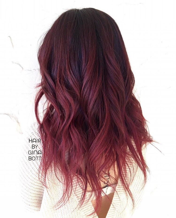 Red Ombre Red Ombre Hair Dyed Hair Ombre Balayage Hair