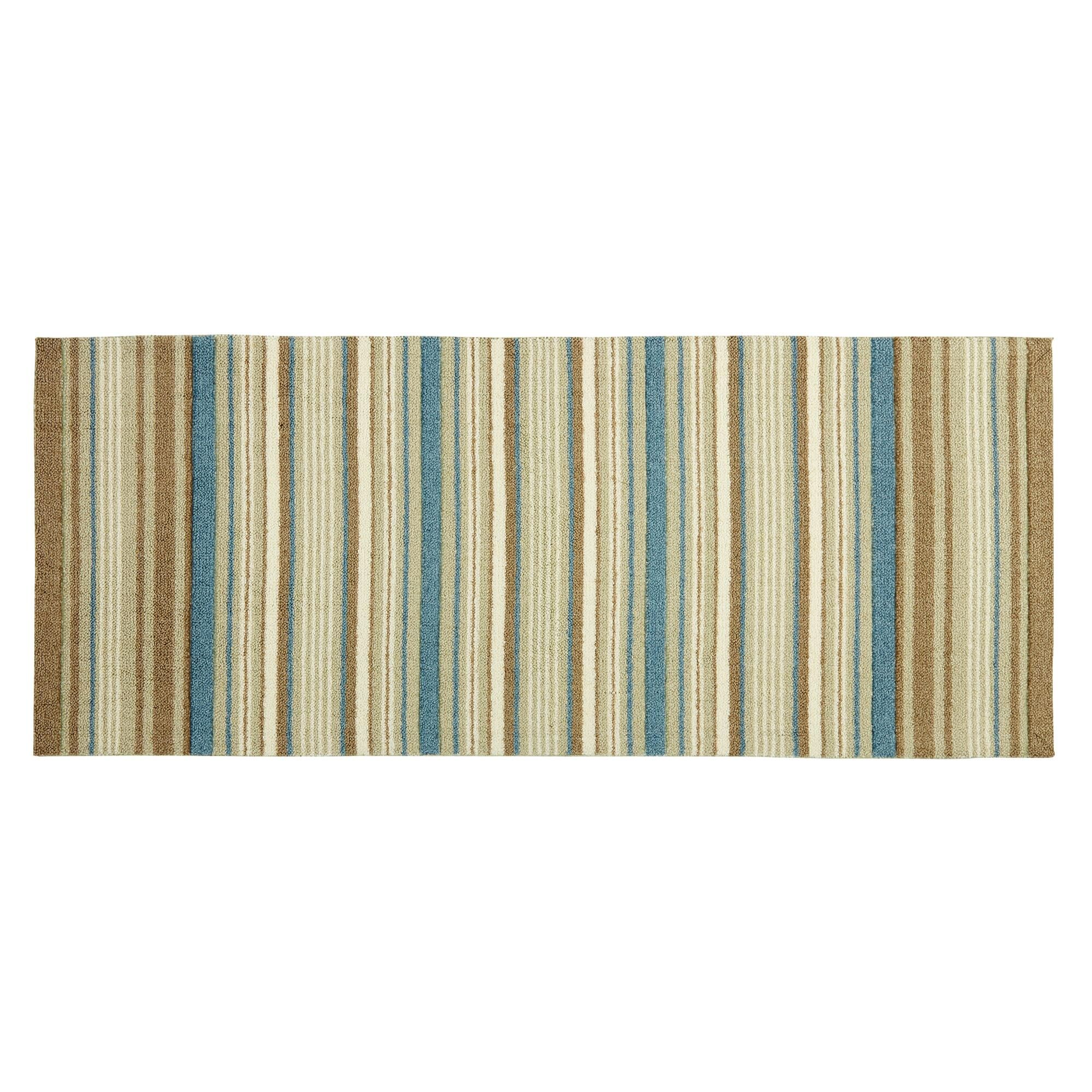 Stylishly striped, our cozy Waverly rug brings comfort and color to your home. A vibrant pattern and easy-care design make this runner a perfect choice for any area of your home.