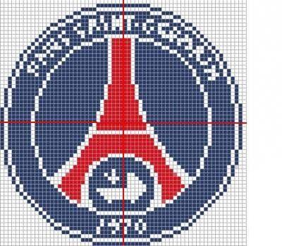 Emblemepsg Logo Dart Coloriage Pixel Et Patte De Chien