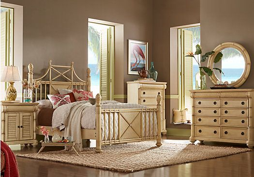 Picture Of Cindy Crawford Home Key West Light Wash Panel X 5 Pc Queen Bedroom From Sets Furniture